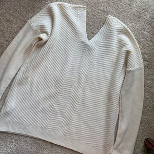 Vince Sweaters - Vince Ivory Chevron V Neck Wool Cashmere Sweater M